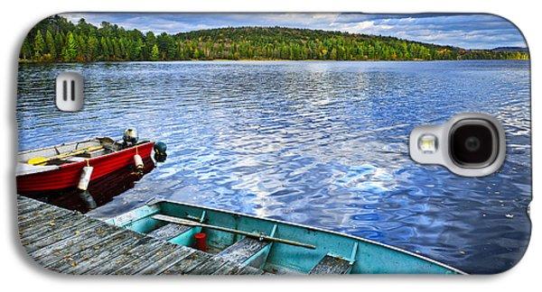 Rowboats On Lake At Dusk Galaxy S4 Case by Elena Elisseeva