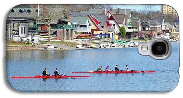 Rowing Along The Schuylkill River Galaxy S4 Case by Bill Cannon