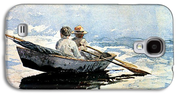 Rowing The Boat Galaxy S4 Case by Winslow Homer