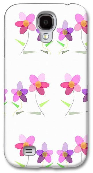 Rows Of Flowers Galaxy S4 Case