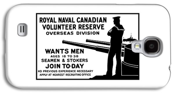 Royal Naval Canadian Volunteer Reserve Galaxy S4 Case by War Is Hell Store