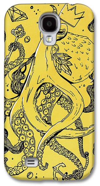 Royal Octopus Canary Yellow Galaxy S4 Case