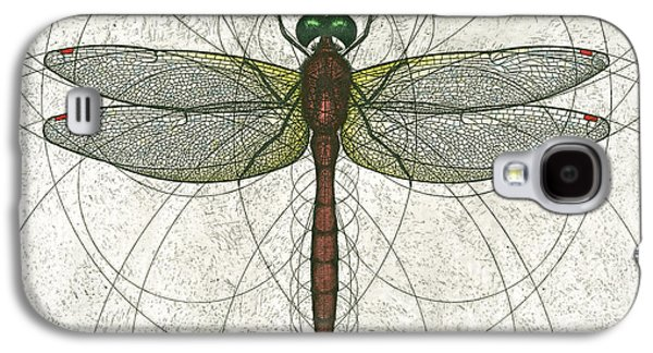 Ruby Meadowhawk Dragonfly Galaxy S4 Case by Charles Harden