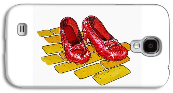 Wizard Galaxy S4 Case - Ruby Slippers The Wizard Of Oz  by Irina Sztukowski