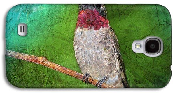 Ruby Throated Hummingbird Galaxy S4 Case by Betty LaRue