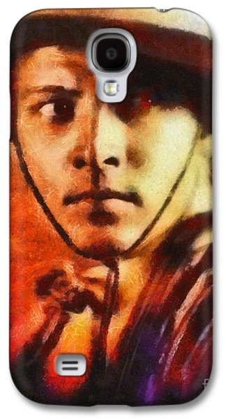 Rudolph Valentino, Vintage Hollywood Legend Galaxy S4 Case