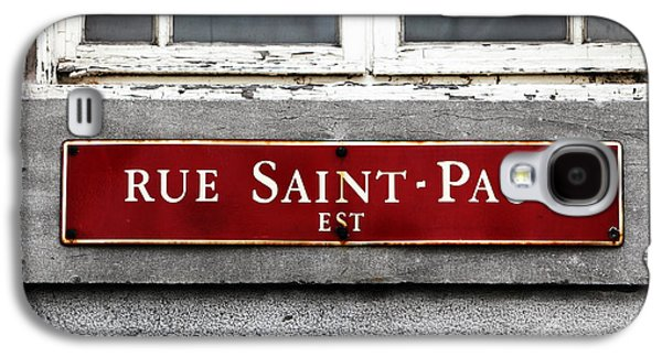 Rue Saint-paul Galaxy S4 Case by John Rizzuto