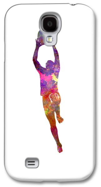 Rugby Man Player 03 In Watercolor Galaxy S4 Case by Pablo Romero