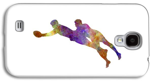Rugby Men Players 03 In Watercolor Galaxy S4 Case by Pablo Romero