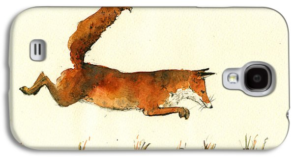 Running Fox Galaxy S4 Case by Juan  Bosco