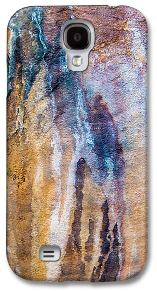 Galaxy S4 Case featuring the photograph Runoff Abstract, Bhimbetka, 2016 by Hitendra SINKAR