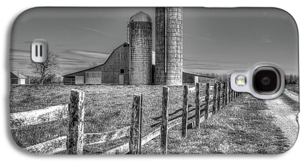 Rural America 2 Barn And Silos Tennessee Galaxy S4 Case by Reid Callaway