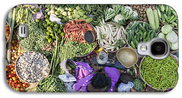 Rural Indian Vegetable Market Galaxy S4 Case by Tim Gainey