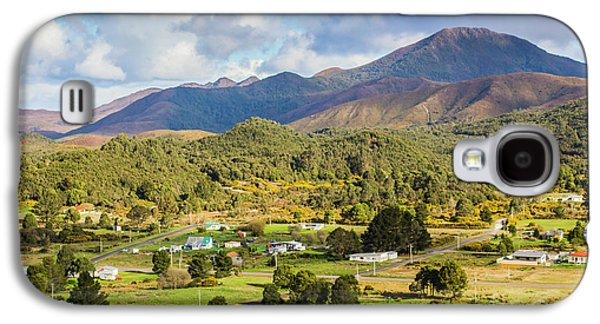 Rural Landscape With Mountains And Valley Village Galaxy S4 Case by Jorgo Photography - Wall Art Gallery