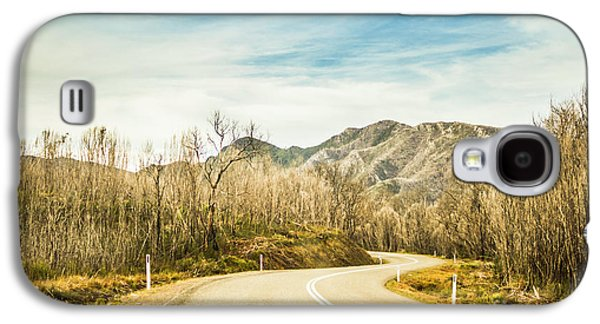 Rural Road To Australian Mountains Galaxy S4 Case by Jorgo Photography - Wall Art Gallery