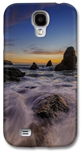 Rushing Tide On Rodeo Beach Galaxy S4 Case by Rick Berk