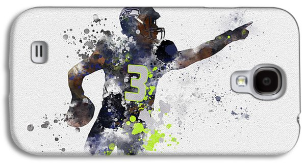 Russell Wilson Galaxy S4 Case by Rebecca Jenkins