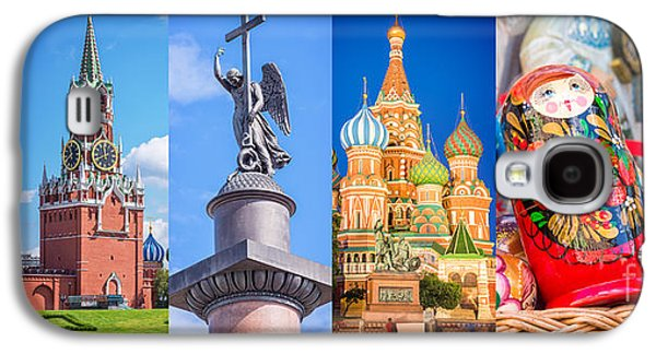 Moscow Galaxy S4 Case - Russia Collage by Delphimages Photo Creations