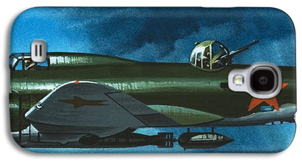 Russian Aircraft Of World War Two  Russian Ilyushin Bomber Galaxy S4 Case by Wilf Hardy