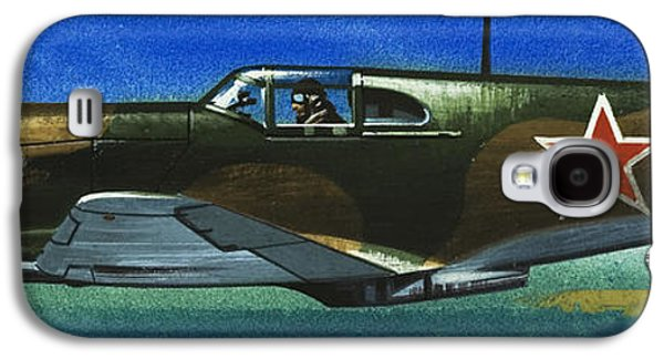 Russian Lavochkin Fighter During World War Two Galaxy S4 Case by Wilf Hardy