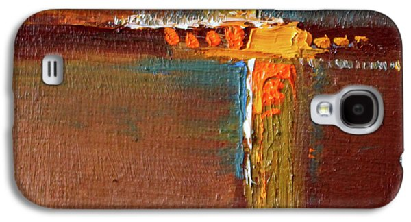 Rust Abstract Painting Galaxy S4 Case by Nancy Merkle
