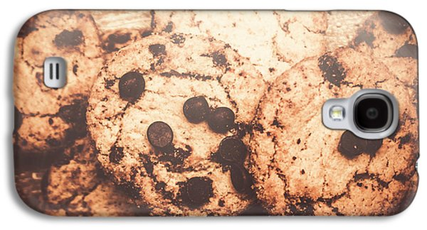 Rustic Chocolate Chip Cookie Snack Galaxy S4 Case by Jorgo Photography - Wall Art Gallery