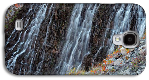 Landscapes Photographs Galaxy S4 Cases - Rustic Falls - Yellowstone Galaxy S4 Case by Stephen  Vecchiotti