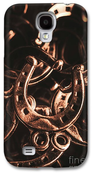 Rustic Horse Shoes Galaxy S4 Case by Jorgo Photography - Wall Art Gallery