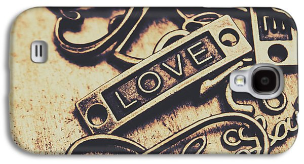 Rustic Love Icons Galaxy S4 Case by Jorgo Photography - Wall Art Gallery