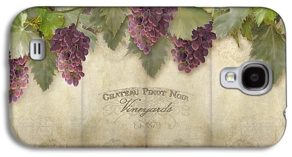 Rustic Vineyard - Pinot Noir Grapes Galaxy S4 Case by Audrey Jeanne Roberts