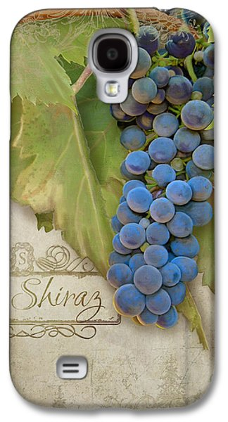 Rustic Vineyard - Shiraz Wine Grapes Over Stone Galaxy S4 Case by Audrey Jeanne Roberts