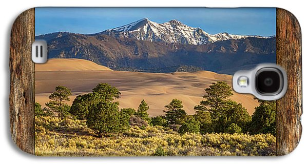 Rustic Wood Window Colorado Great Sand Dunes View Galaxy S4 Case by James BO Insogna