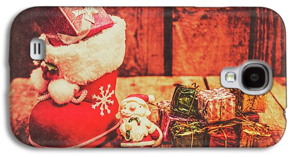 Rustic Xmas Decorations Galaxy S4 Case by Jorgo Photography - Wall Art Gallery