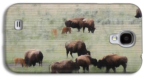 Rustic Yellowstone Bison Herd Galaxy S4 Case