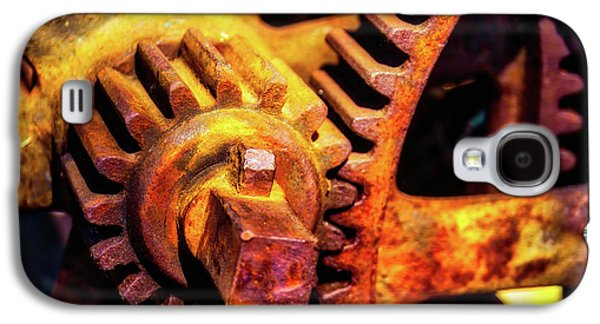 Rusting Train Yard Gear Galaxy S4 Case by Garry Gay
