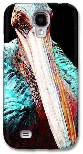 Rusty - Pelican Art Painting By Sharon Cummings Galaxy S4 Case by Sharon Cummings