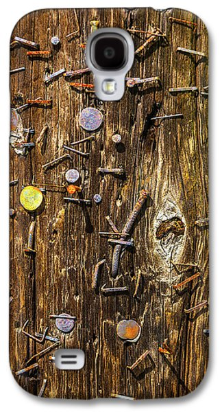 Rusty Staples In Old Pole Galaxy S4 Case by Garry Gay