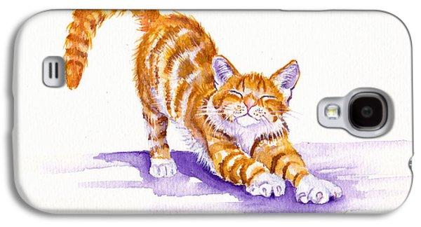 Cat Galaxy S4 Case - S-t-r-e-t-c-h by Debra Hall