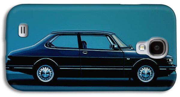 Car Galaxy S4 Case - Saab 90 1985 Painting by Paul Meijering