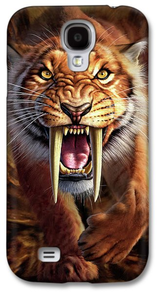 Sabertooth Galaxy S4 Case by Jerry LoFaro