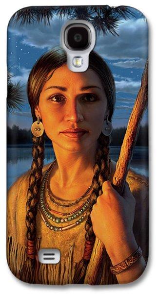 Sacagawea Galaxy S4 Case by Mark Fredrickson