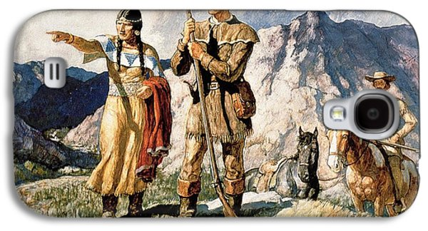 Sacagawea With Lewis And Clark During Their Expedition Of 1804-06 Galaxy S4 Case
