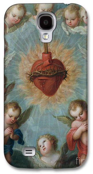 Sacred Heart Of Jesus Surrounded By Angels Galaxy S4 Case