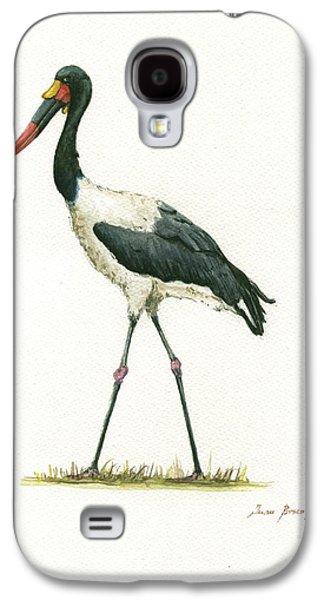 Crane Galaxy S4 Case - Saddle Billed Stork by Juan Bosco