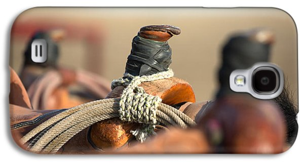 Saddle Horns Galaxy S4 Case by Todd Klassy