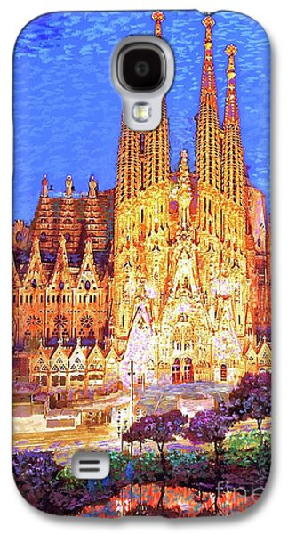 Sagrada Familia At Night Galaxy S4 Case by Jane Small