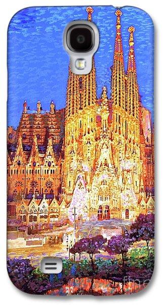 Barcelona Galaxy S4 Case - Sagrada Familia At Night by Jane Small