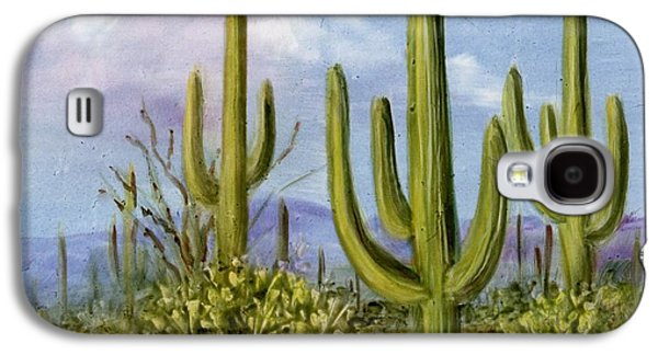 Saguaro Scene 1 Galaxy S4 Case by Summer Celeste