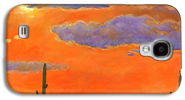 Colorful Galaxy S4 Case - Saguaro Sunset by Johnathan Harris