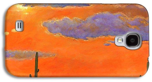 Universities Galaxy S4 Case - Saguaro Sunset by Johnathan Harris